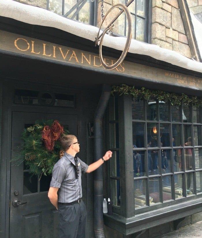 Ollivanders wand shop in Hogsmeade