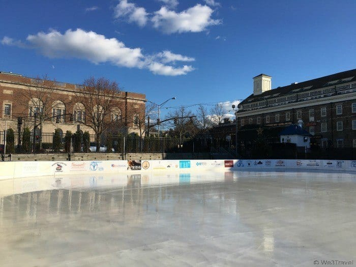 Things to do in Newport Rhode Island in winter: ice skating at the Newport Skating Center