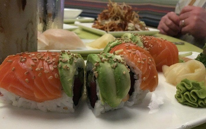 Dining costs at Universal Orlando -- sushi from Cowfish