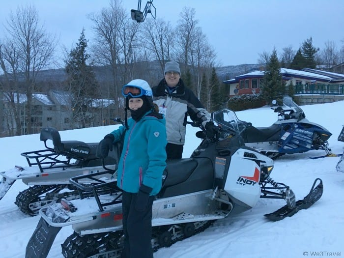 Snowmobiling at Smugglers' Notch in VT