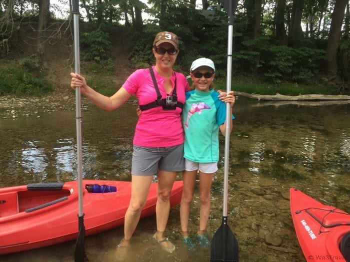 Kayaking on the Shenandoah River in Woodstock Virginia