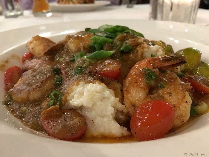 Emeril's shrimp and grits in Universal Orlando