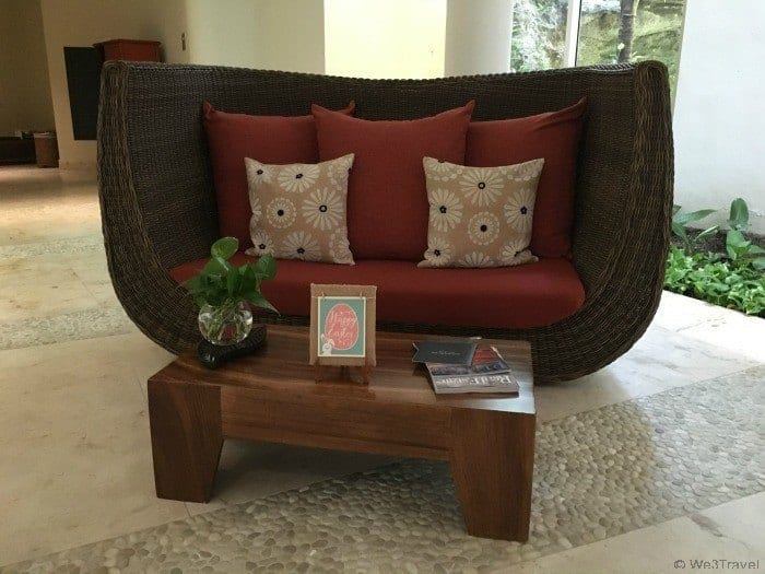 Grand Velas Riviera Spa relaxation bench