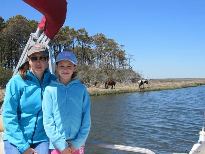 Mother daughter trips -- seeing the wild ponies in Chincoteague