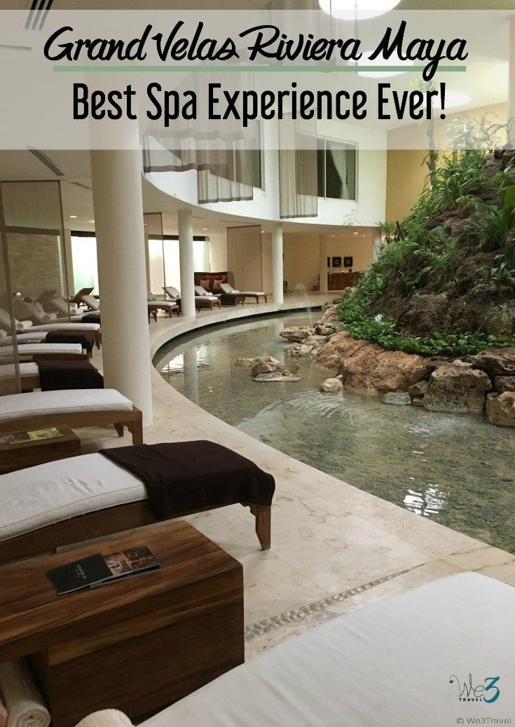 The spa at the Grand Velas Riviera Maya in Playa del Carmen Mexico was THE BEST spa experience I've ever had. If you go, you must do their signature water journey experience. It was heavenly!