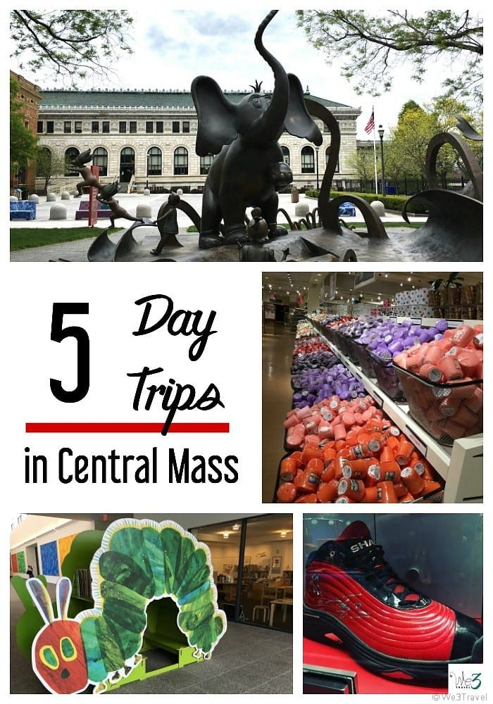 5 day trips in Central Massachusetts including Springfield Museums, Eric Carle Museum, Six Flags New England, Basketball Hall of Fame and the Yankee Candle Village