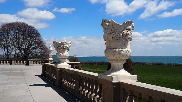 The back view from the Breakers in Newport Rhode Island