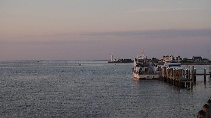 Dawn at the Saybrook point inn and marina