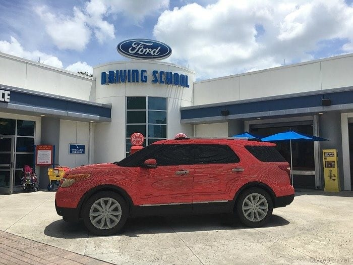 Ford car made out of legos