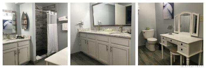 Cape Codder family suite bathroom