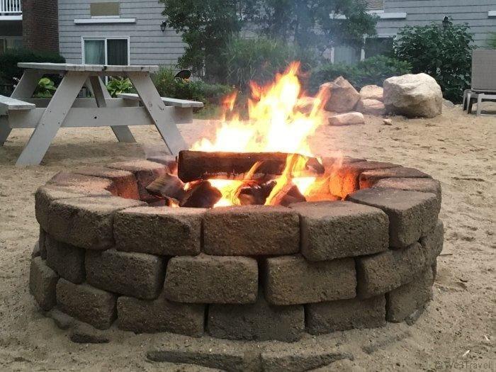 Firepit at the Cape Codder resort