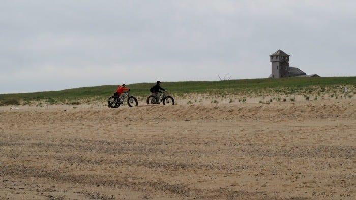 Fat tire bikes on Race Point Beach