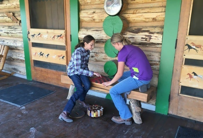 Playing checkers at the nine quarter circle ranch