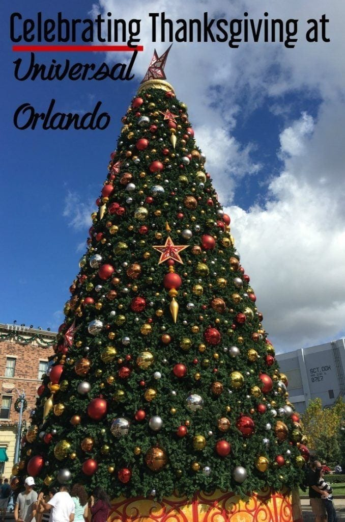Tips and ideas for celebrating Thanksgiving at Universal Orlando in Florida