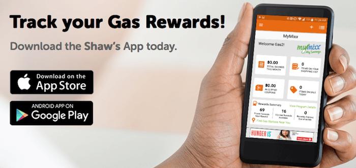 Shows gas rewards