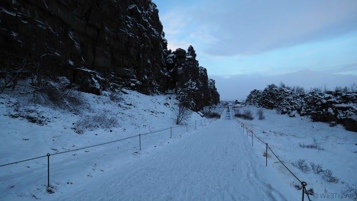 Thingvellir National Park in the winter