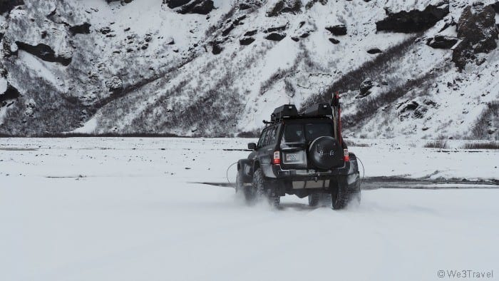 Super jeep tour in Iceland winter