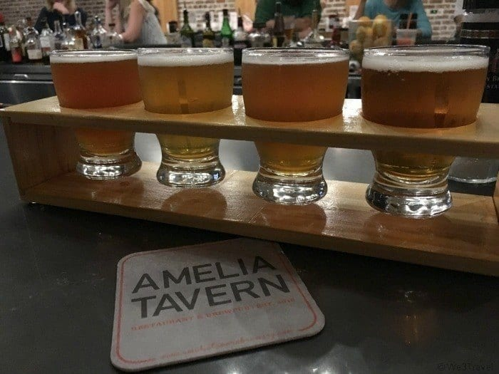 Amelia Tavern beer flight | Where to eat in Amelia Island Florida