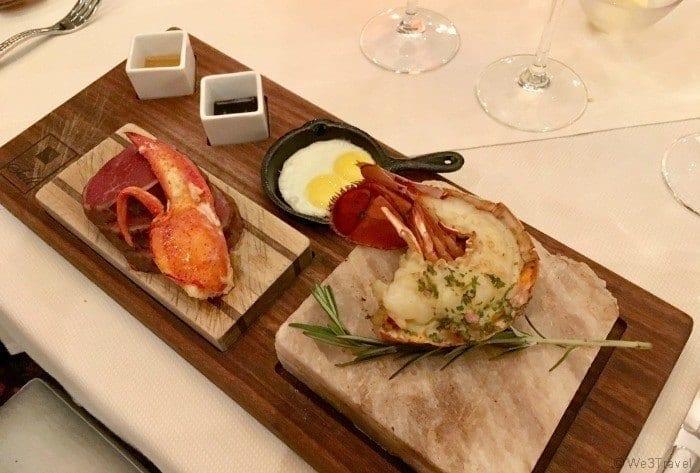 Steak Lobster and egg at Salt