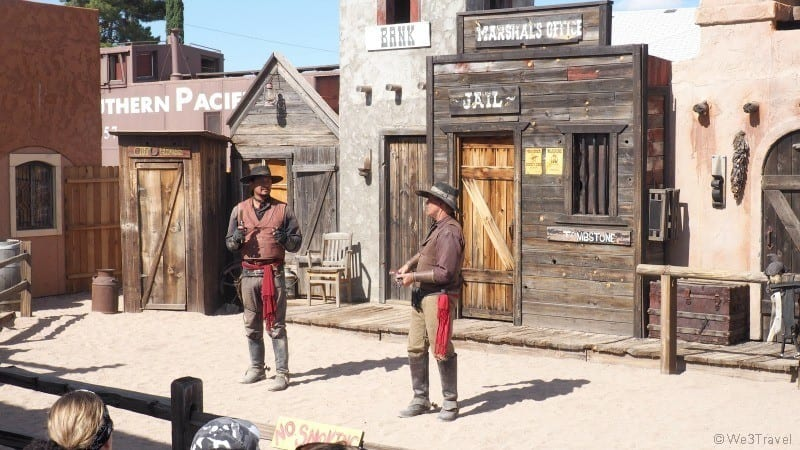 Old Tombstone gunfight show
