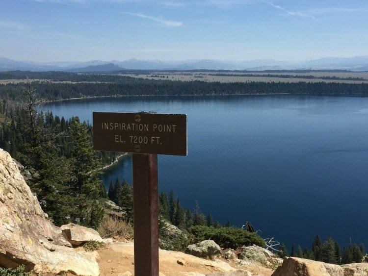 Inspiration Point Grand Tetons National Park things to do