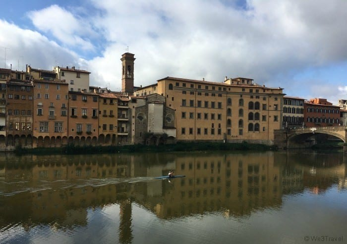Three days in Florence with teens - Arno river