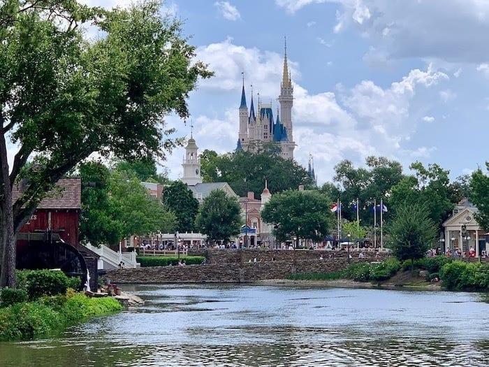 Magic Kingdom castle from across the lake