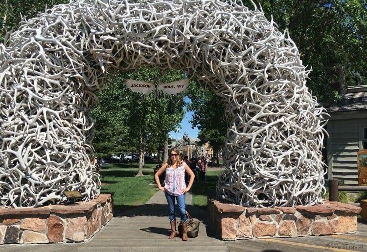 Jackson Wyoming antler arch