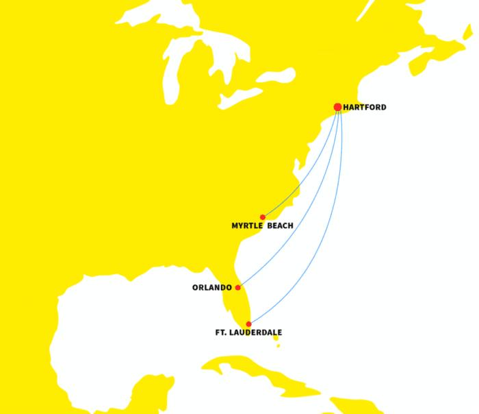 Spirit flight map