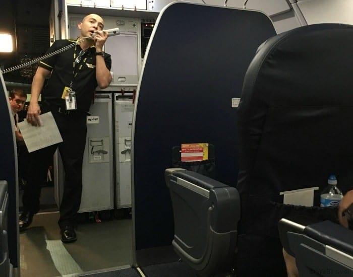 Spirit Airlines flight attendant