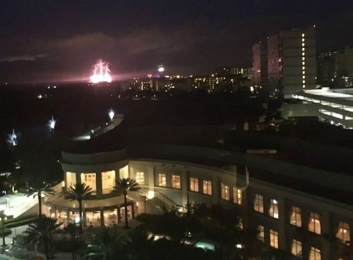 Fireworks from Waldorf Astoria Orlando