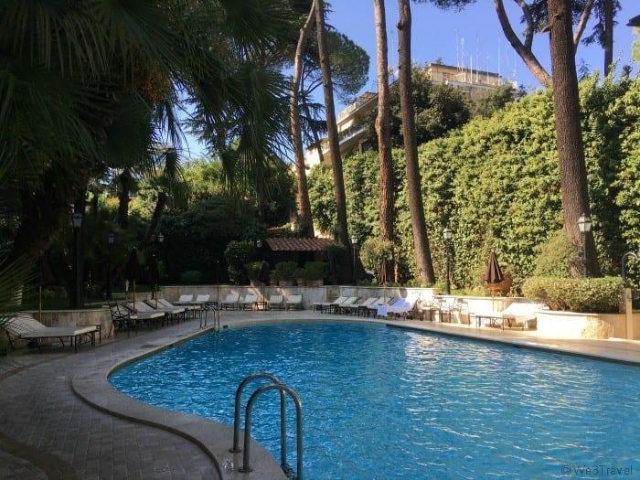 Aldrovandi Villa Borghese pool Rome hotels with pool