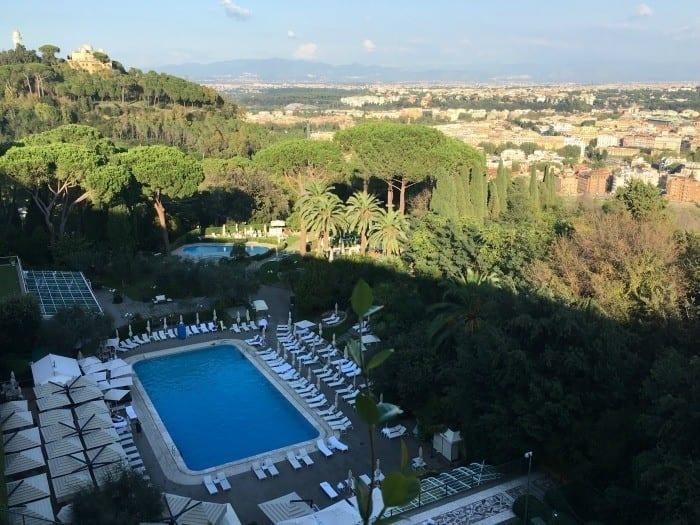 Rome hotels with pools Rome Cavalieri Waldorf Astoria