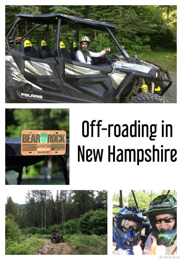 Off roading in New Hampshire on NH ATV trails with Bear Rock Adventures