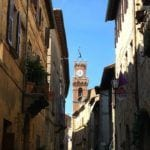 Pienza clock tower