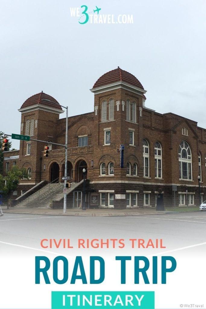Civil Rights trail road trip itinerary Ebenezer Baptist Church