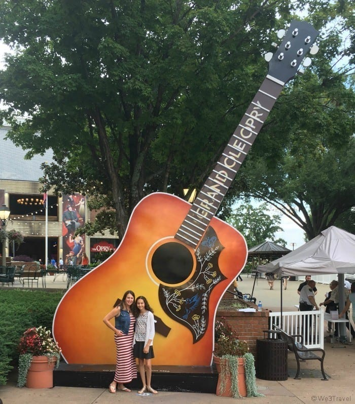 Outside of the Grand Ole Opry