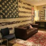 Stars and Stripes dressing room at the Grand Ole Opry