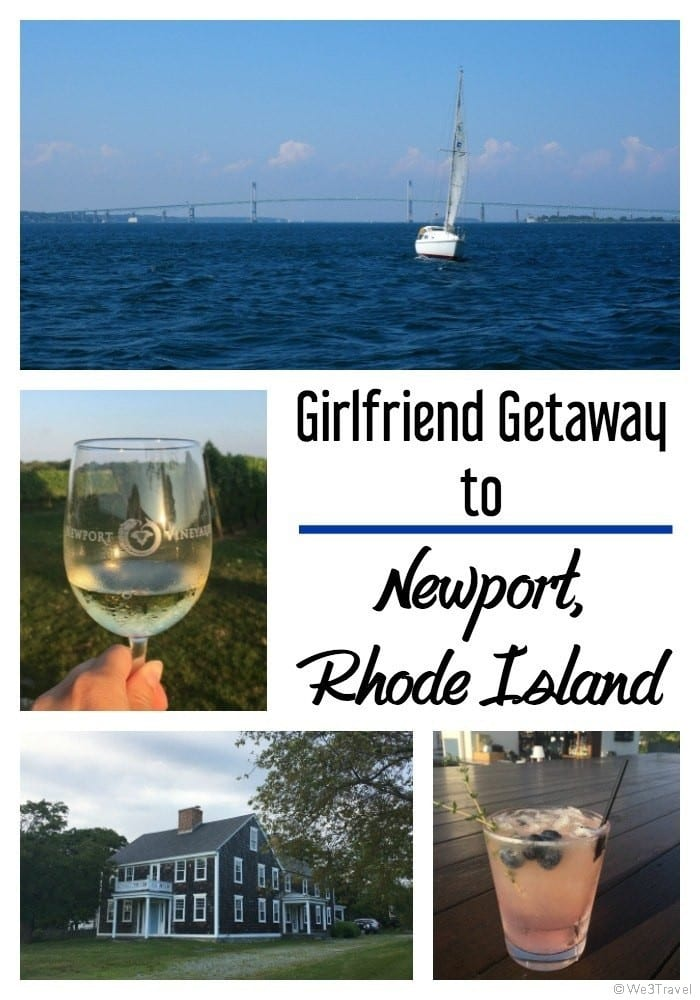 Girlfriend getaway ideas - Newport Rhode Island offers so much for a girls weekend including good food, fun places for a cocktail, great wineries, beaches, and sailing cruises.