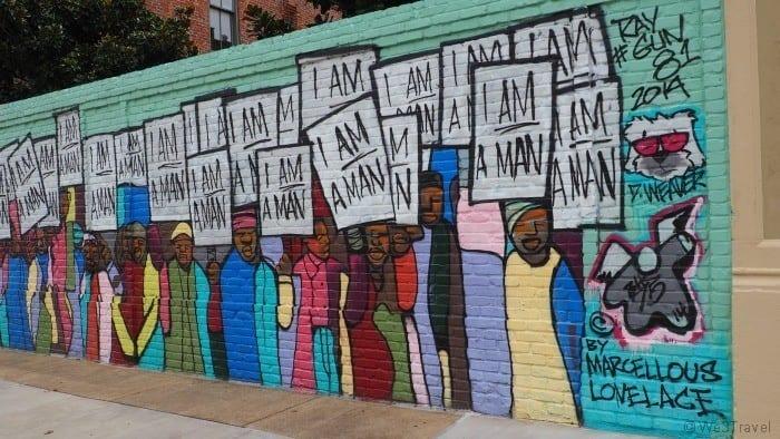 I am a man mural in Memphis