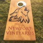 Cornhole at Newport Vineyards