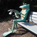 Airlie gardens frog