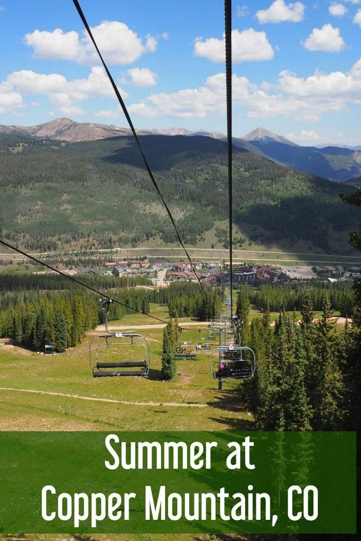 Copper Mountain Colorado - summer in the Rocky Mountains at a ski resort