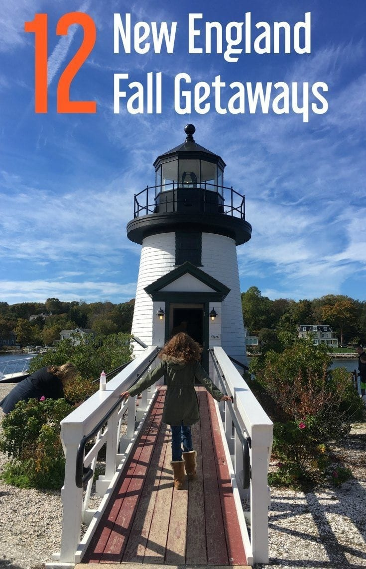 Fall weekend getaways for family vacations in New England