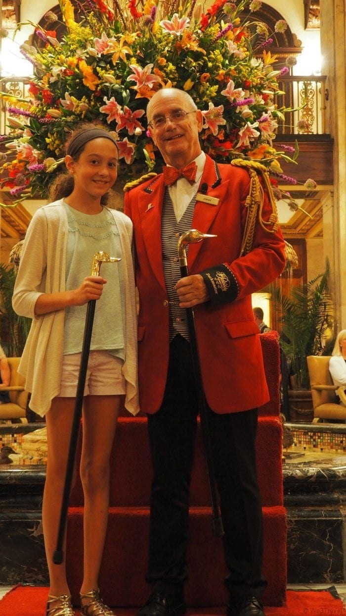 Honorary duck master at the Peabody memphis