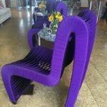 Blockade runner purple chairs