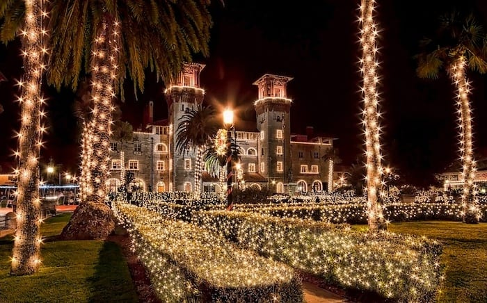 St Augustine Florida holiday lights