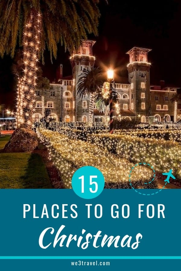 15 Places to go for Christmas on the East Coast to celebrate the winter holidays #wintertravel #christmastravel #holidaytravel