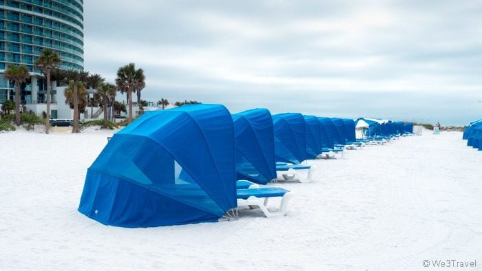 Clearwater Beach cabanas