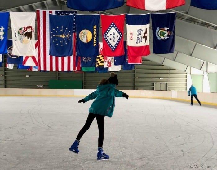 Ice skating at Okemo